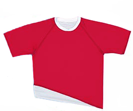 Pre-#ed REVERSIBLE Soccer Jerseys SCARLET w/WHT # 